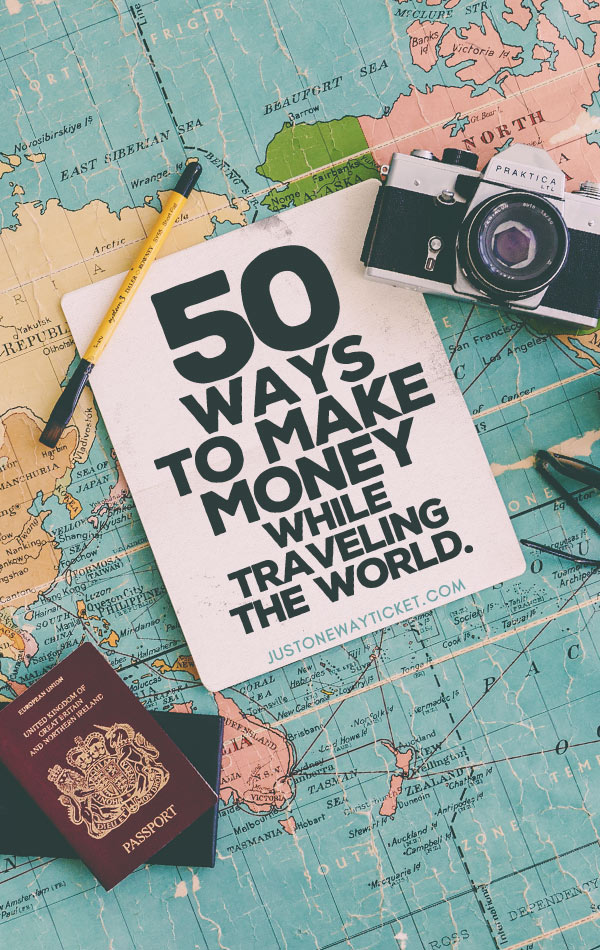 Best Travel Jobs | 50 Ways To Make Money While Traveling The World | You want to work and travel? Pack your bags! Here is the most extensive list of the best traveling jobs in the world | #traveljobs #digitalnomad #workabroad
