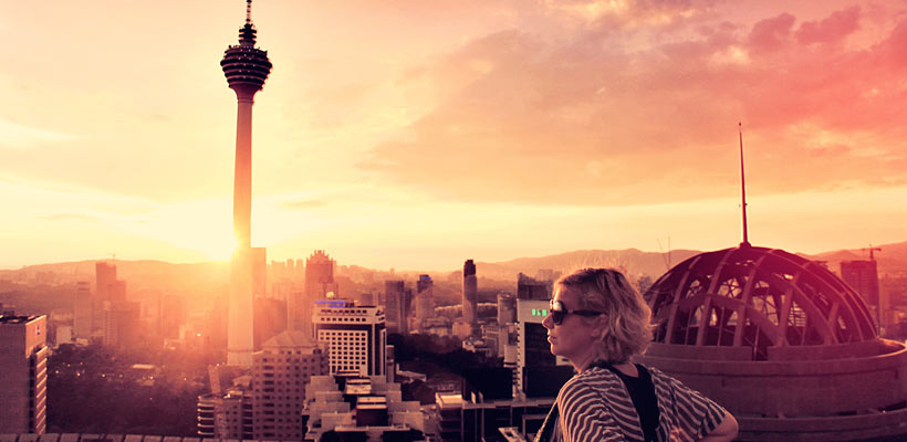 On a helicopter pad in Kuala Lumpur... I love rooftops. Malaysia 2013 @Just1WayTicket