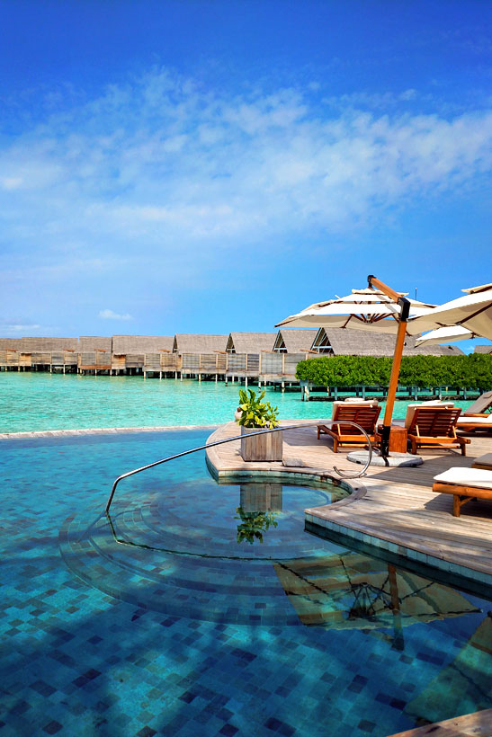 Pool Area at Milaidhoo Island, Maldives - The Ultimate Luxury Escape For Dreamers | Hotel Review by JustOneWayTicket