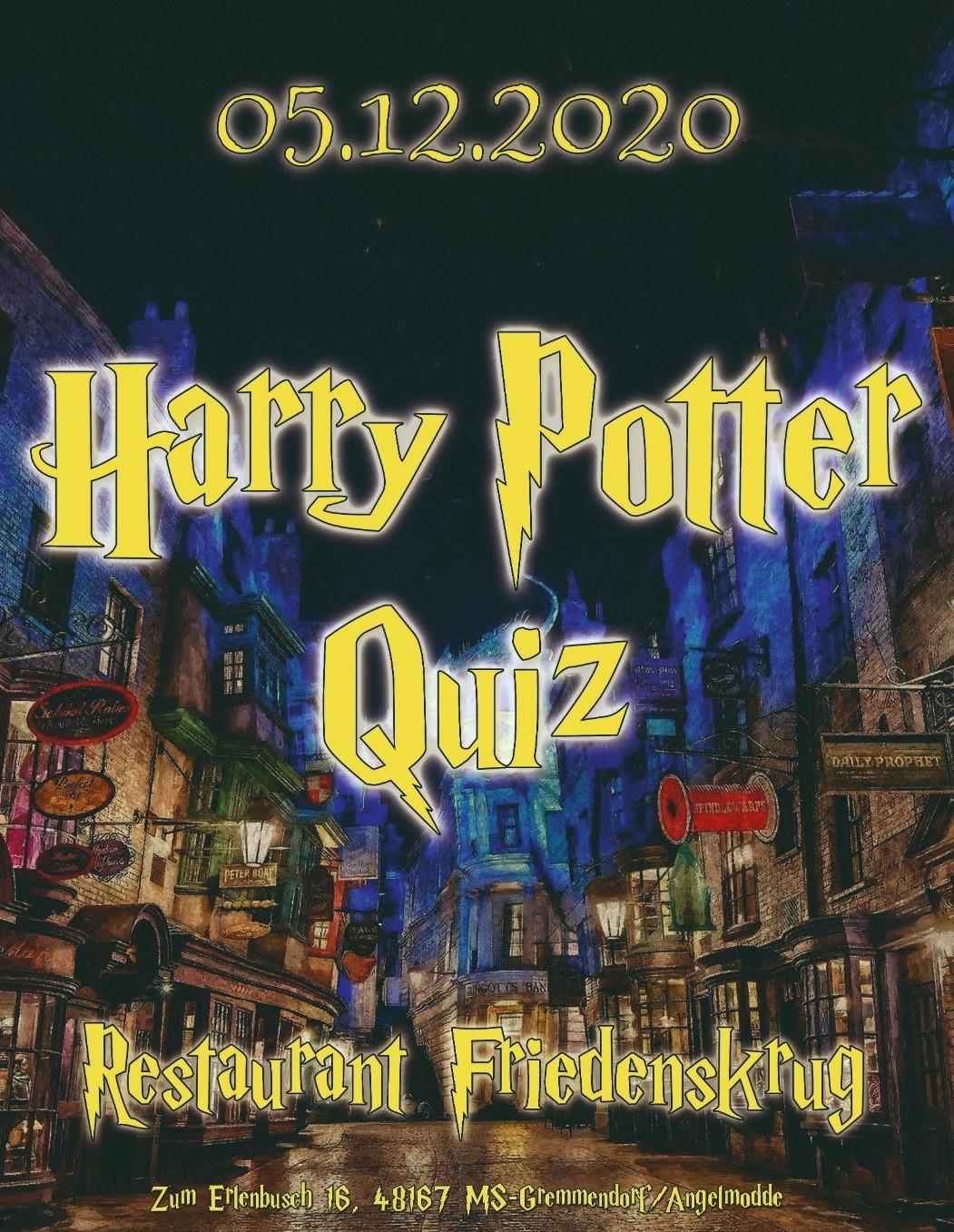 Harry Potter Fanquiz im Friedenskrug [verschoben auf den 22. März 2021]