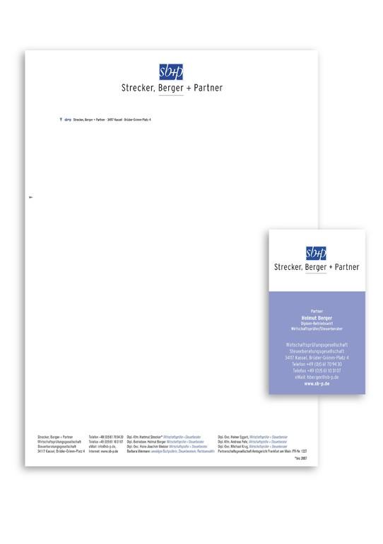 SB+P Kassel: ReDesign des Logos, Gestaltung neuer Geschäftspapiere, Prospekte, Newsletter