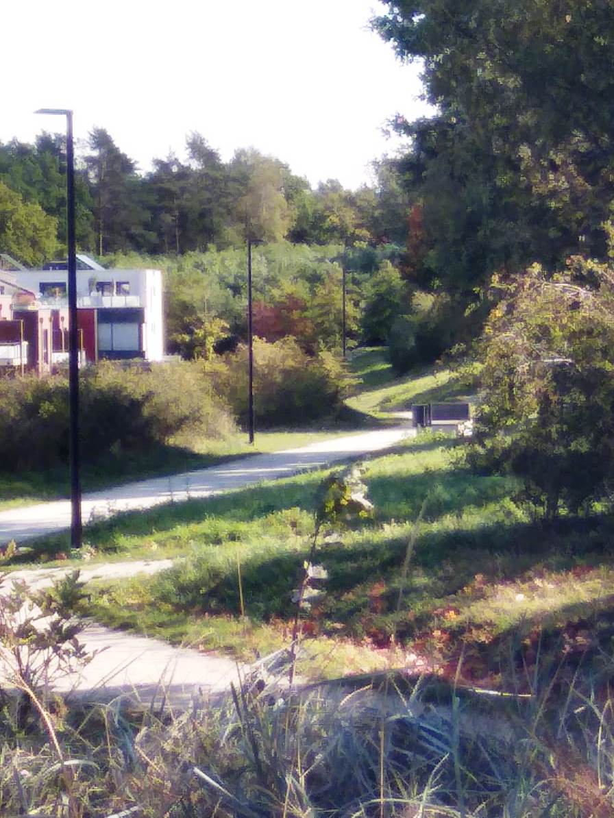 "Grünstreifen nahe dem ""Leuchtturmspielplatz"""