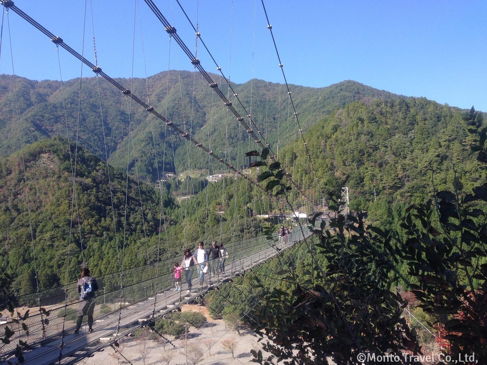 スリル満点の谷瀬の吊り橋 (十津川村)