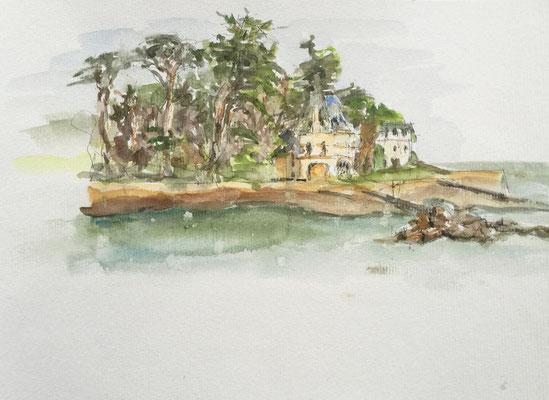 Carnet de voyage - 2015- Aquarelle - Ile Tristan à Douardenez