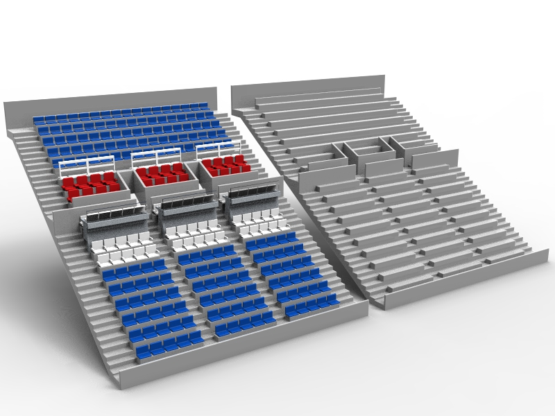 The difference between the SubbuteoStadium grandstand and a standard Subbuteo grandstand