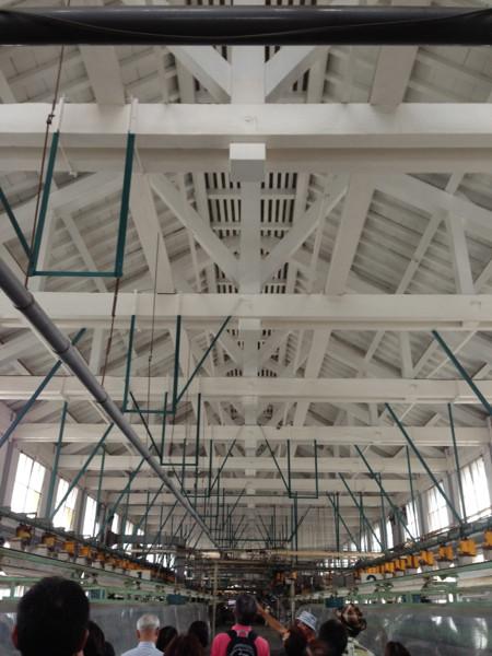 工場の天井梁