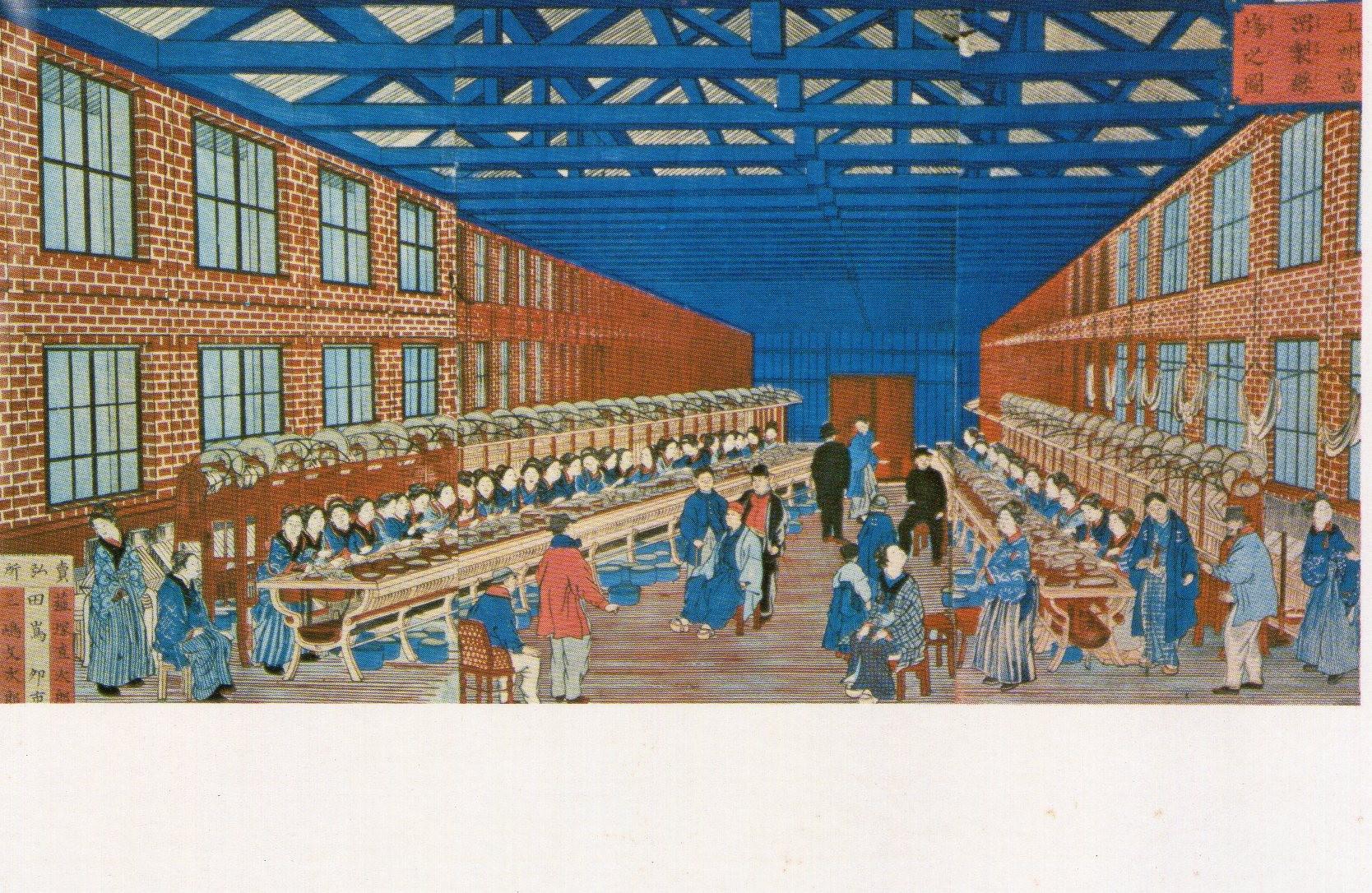 操業当初の工場錦絵