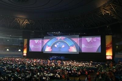 巨大マルチスクリーンによるプレゼンテーション
