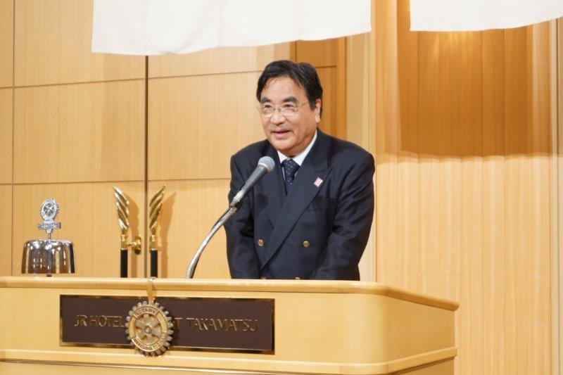 増尾茂之会長が歓迎の挨拶