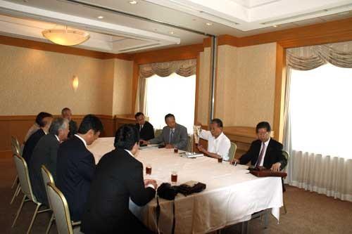 2009年7月15日、ガバナー公式訪問・会長幹事懇談会