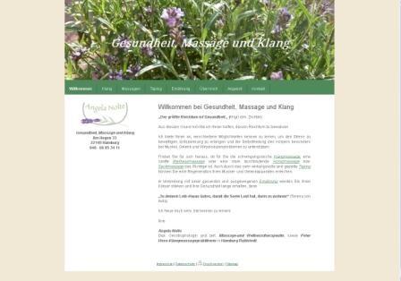 Gesundheit, Massage und Klang, Angela Nolte 2014