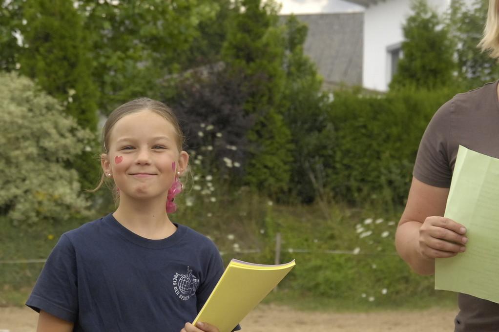 Na klar- Johanna- die verteilt zum Abschluss fleißig die Urkunden!