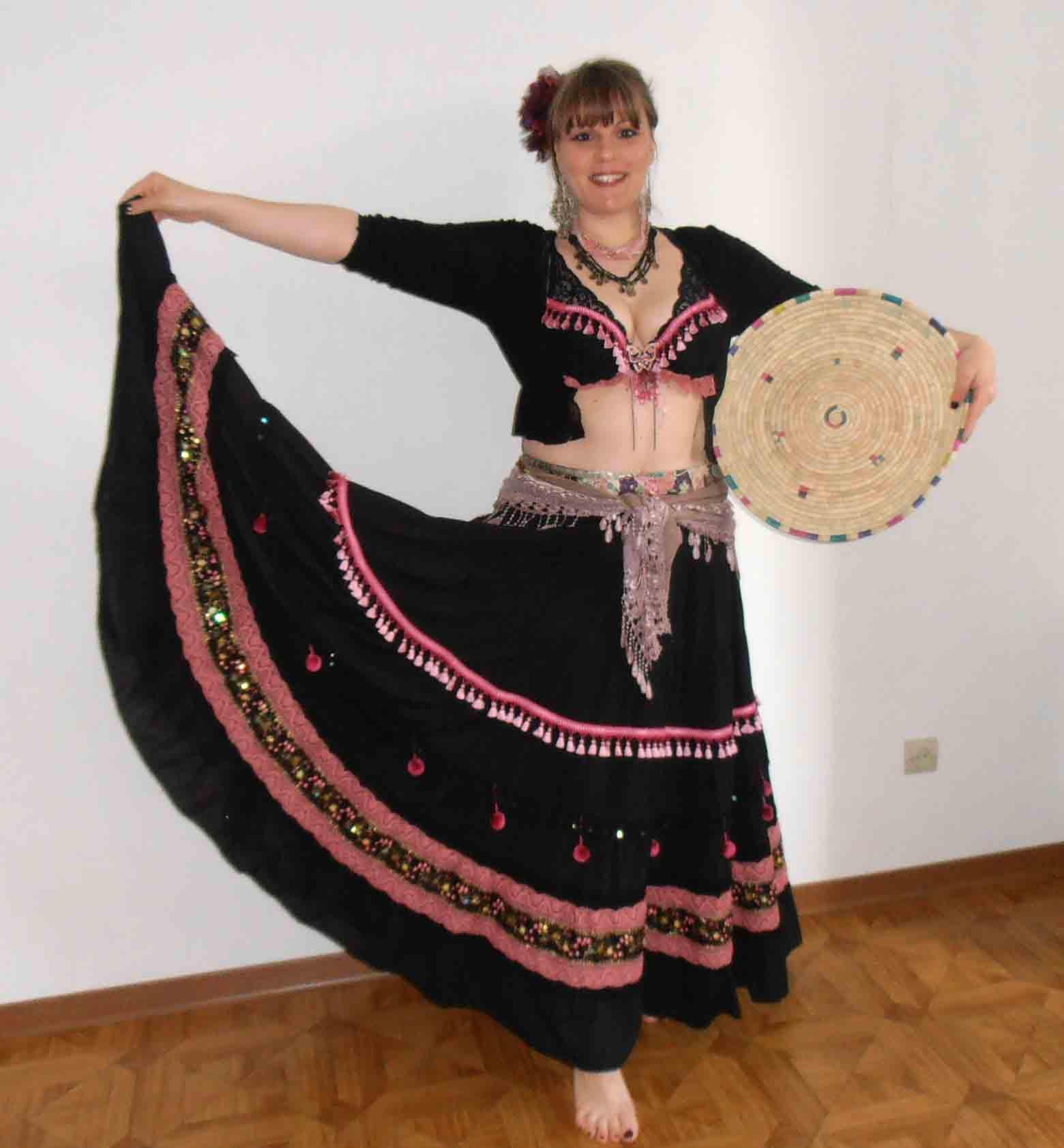 Jupe et soutien-gorge pour danses métissées / Fanny