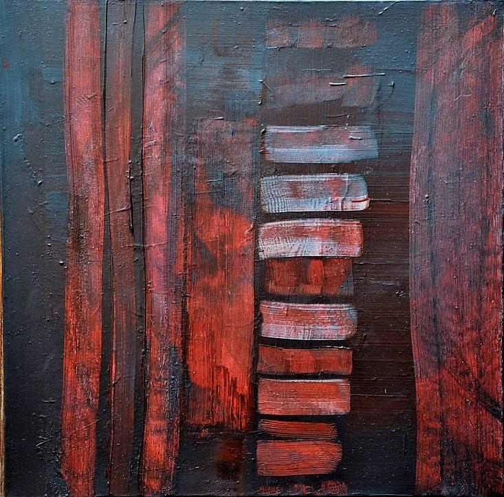 """""""Fondant"""" Elgi loun - Acrylique sur toile - 60x60x3 - Collection privée"""