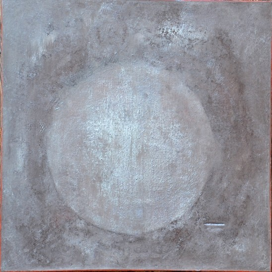 """""""Matière brute"""" Elgi loun - acrylique sur toile 80x80x3"""