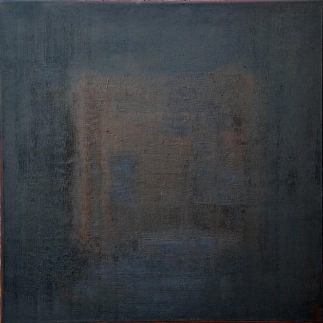 """""""Couleur café"""" Elgi loun - Acrylique sur toile - 60x60x3"""