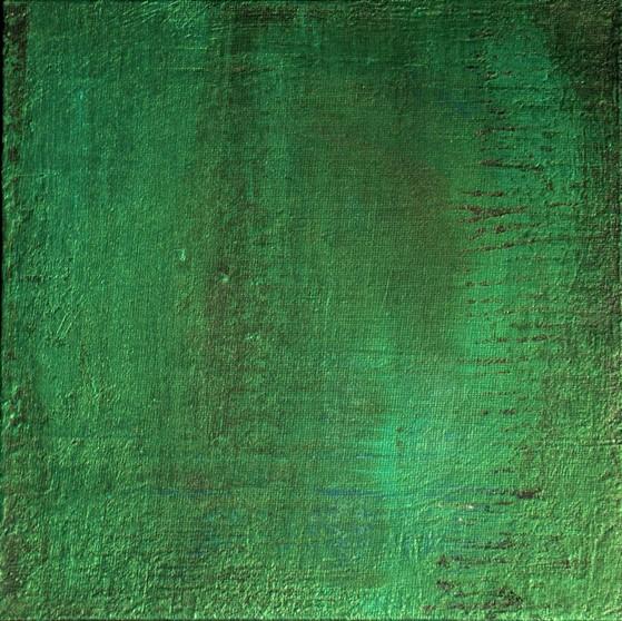 """Petite Dombes"" Elgi loun - Acrylique sur carton toile - 20x20 - collection privée"