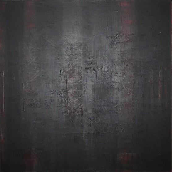 """""""Terre d'hiver"""" Elgi loun - Acrylique sur toile - 100x100x3"""