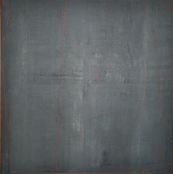 """Bitume"" Elgi loun - Acrylique sur toile - 100x100x 3"