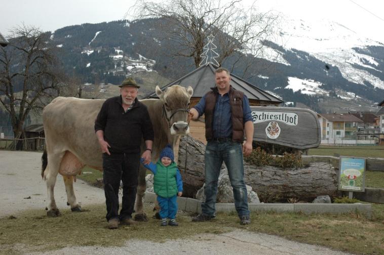 """Unsere beste Kuh, die 100.000 Liter - Kuh """"Köstel"""""""