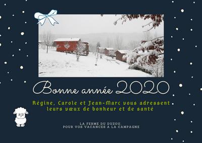 Régine, Carole et Jean Marc vous souhaitent une bonne année 2020