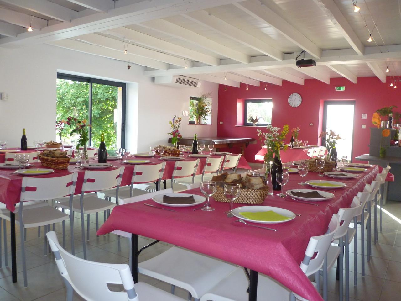 Location de salle pour repas de 50 personnes