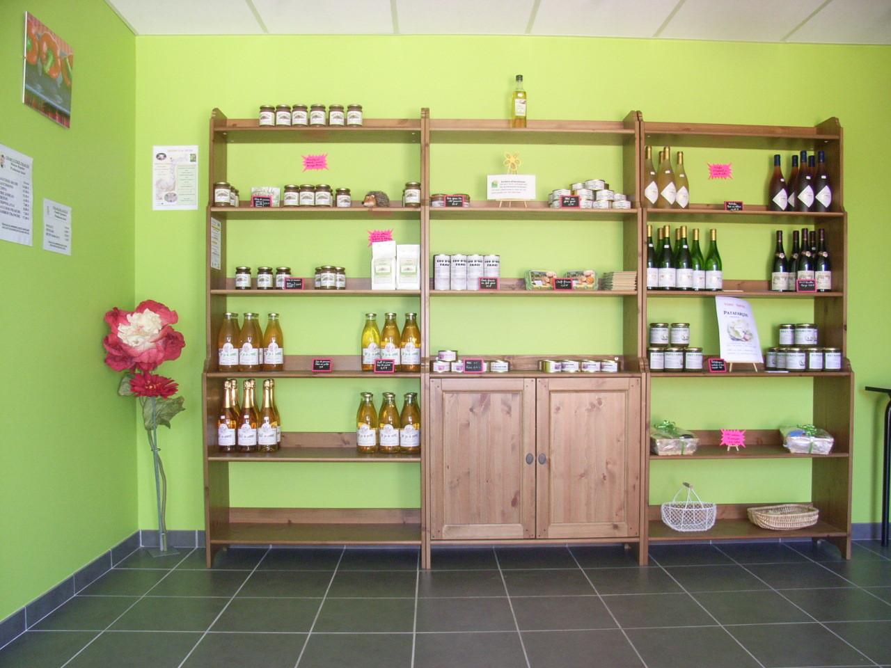 La boutique de produits fermiers du réseau Bienvenue à la Ferme