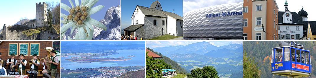 Freizeit- und Sportangebote der Tourismusregionen Kaiserreich/ Chiemsee-Alpenland