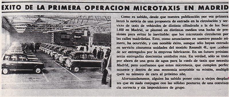 El microtaxi de Madrid y el Seat 800 600 Tour Madrid