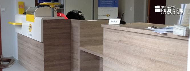 Agencement d'une agence postale conforme à l'accessibilité des ERP aux personnes handicapées