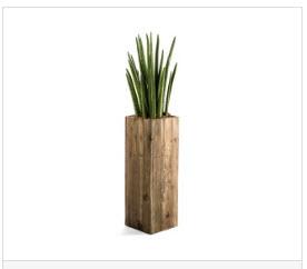 Holzsäule für Pflanze