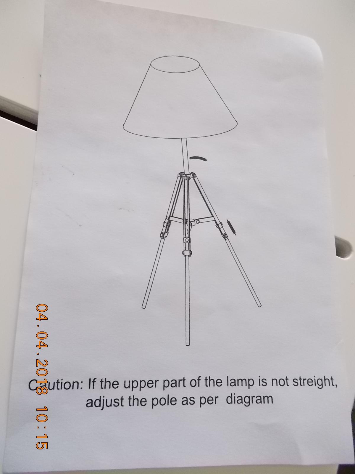 weisse Lampe 094154