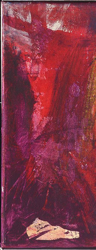 Kreuz .  Als A6 Karte erhältlich . Ausschnitt aus Begegnung .  Acryl auf Leinwand .  30 x 30 cm