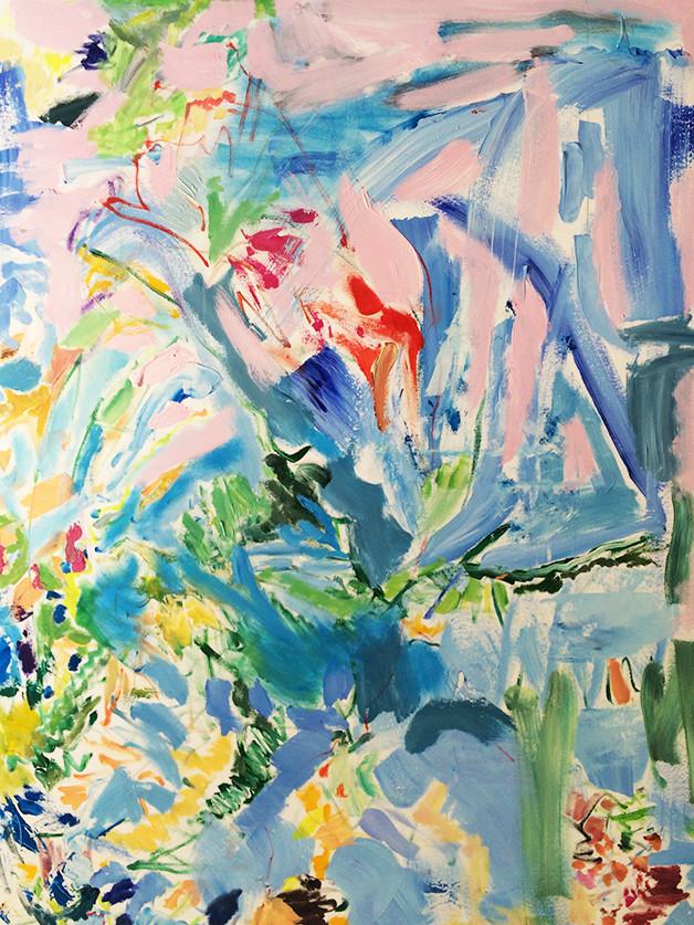Roasa Abstrakt, 120 x 90 cm, Acryl auf Leinwand . 1500 EUR