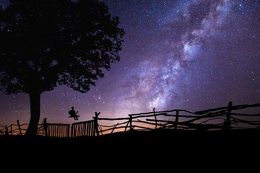 schaukeln unterm Sternenhimmel