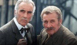 Christopher Lee (et Patrick Macnee)