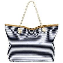 XXL Damen Marine Strandtasche