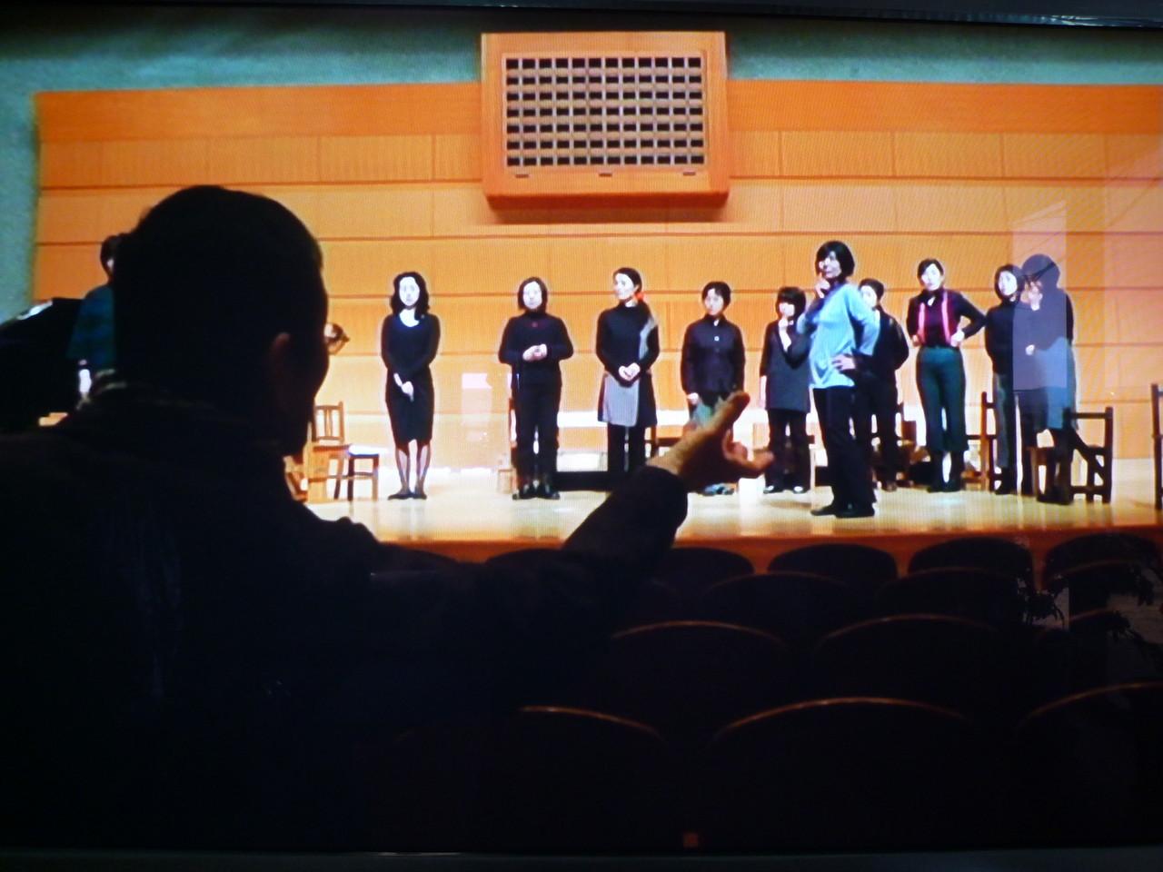 ある日の舞台稽古 加藤先生 ときに優しく ときに厳しく…