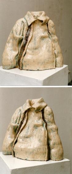 Claude II, Keramik glasiert, 2000, (42 x 46,5 x 18,5 cm)