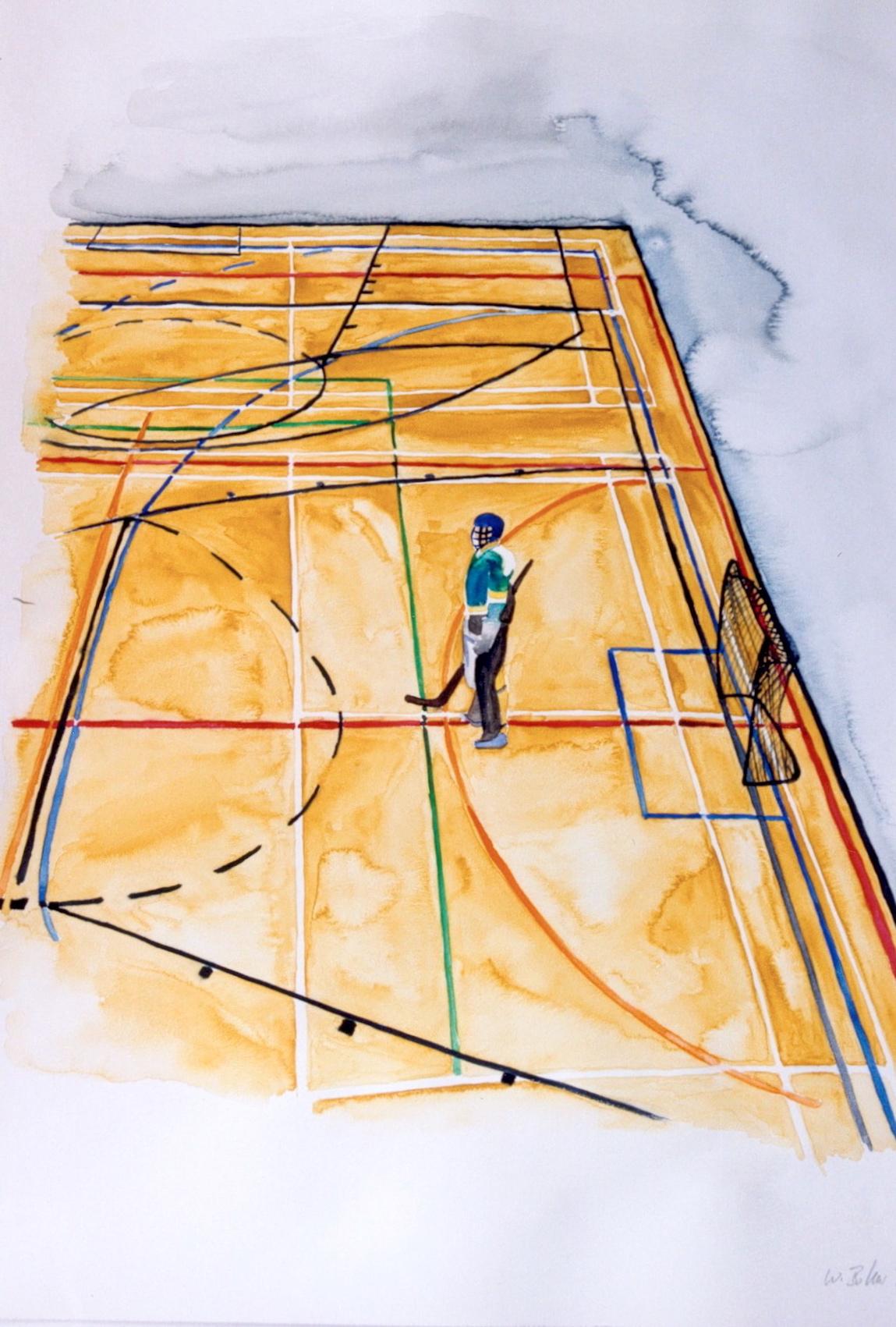 Play-Ground, Aquarell auf Bütten, 2005, 70 x 50 cm