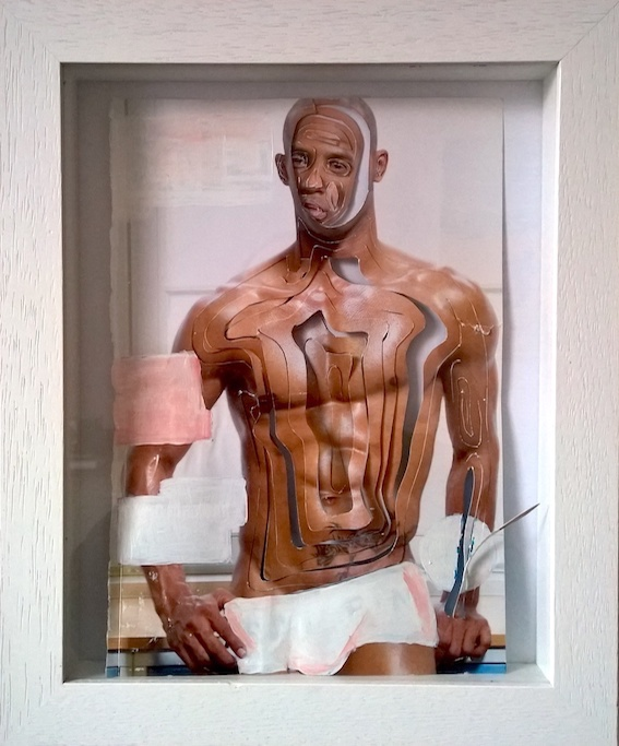 No Zero Drag (Buddy), Collage, 48x36 cm gerahmt