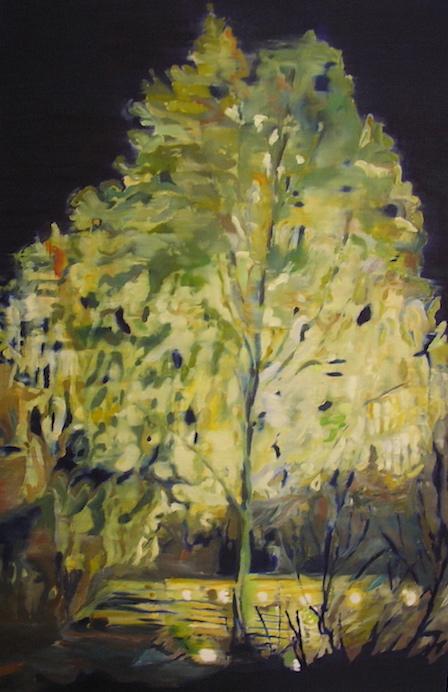 Baum, 2008, ÖL auf LW., 120 x80 cm