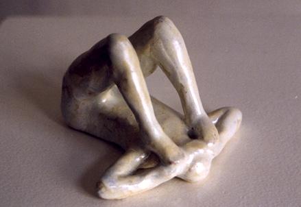 o. T., Keramik glasiert, 1999,
