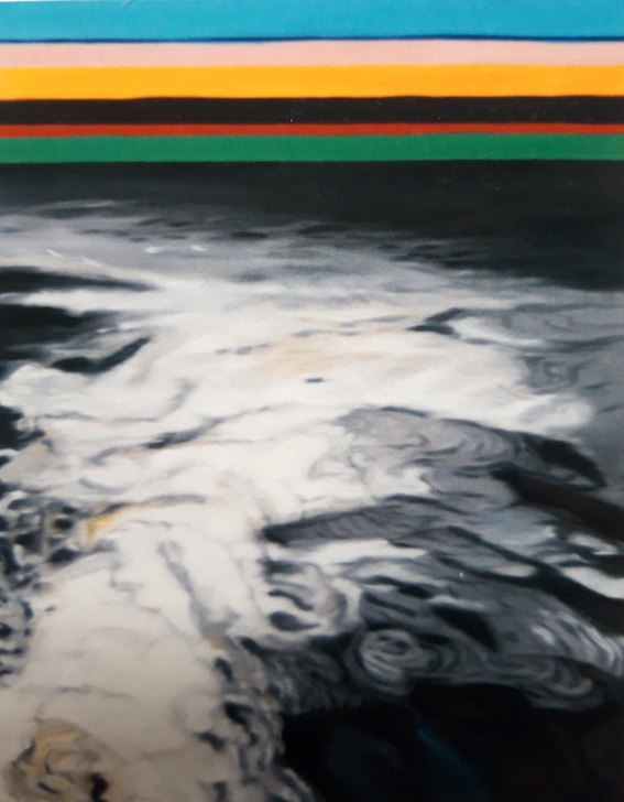 Springs Nr.1, 2000, Öl auf LW., 77 x 60 cm