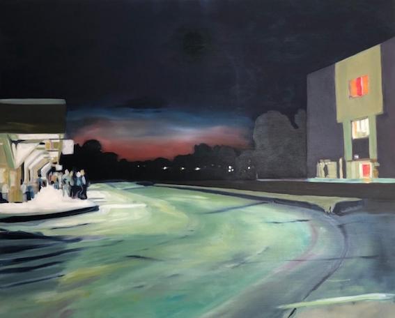 Busstop (Montreal - Henri Bourassa), 2000, 80x100 cm (Privatbesitz Berlin)