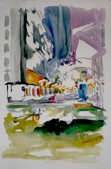 Liquid Room Nr. 10, 2008, Aquarell auf Bütten, 45,5 x 30,5 cm