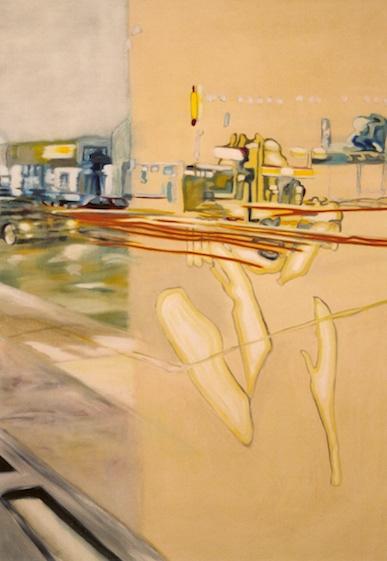 Zwielicht 1, 2001, Öl auf LW., 140 x100 cm (Privatbesitz Berlin)