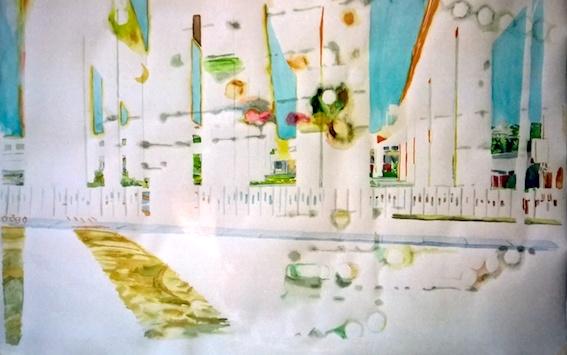 o. T.,2006, Aquarell auf Bütten, 100 x 78 cm