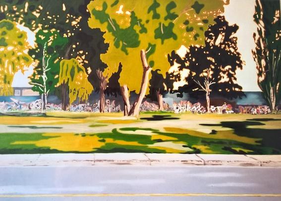 Camouflage, 2004, Öl auf LW., 140 x 170 cm (Privatbesitz Berlin)