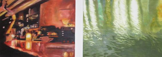 Bar, 2003, Öl auf LW., je 40 x 60cm